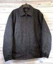 Vintage Aberdeen Collection Mens Pea Coat Sz Large Gray Jacket Wool Blend