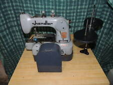Chandler 485P Button Industrial Sewing Machine w/ Table, Base, Table & Motor