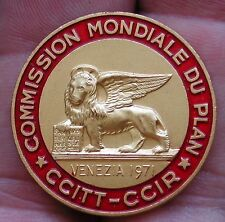 DISTINTIVO BADGE COMMISSION MONDIALE DU PLAN CCITT CCIR VENEZIA 1971 LORIOLI  #1