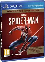 MARVEL'S SPIDER-MAN GAME OF THE YEAR EDITION - PS4 PLAYSTATION 4 - NEW & SEALED