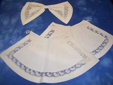 Beautiful Ladies Handmade Vintage - Antique (3 Piece) White Lace Bow & Cuffs #8