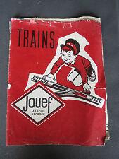 livre ancien catalogue train electrique jouef  locomotive