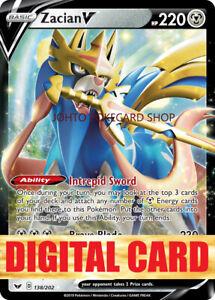 Zacian V Sword & Shield DIGITAL Pokemon TCG Online code PTCGO FAST DELIVERY