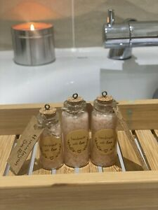 Miniature Bath Epsom and Himalayan Salts Blended with  Specialist Vegan Oil