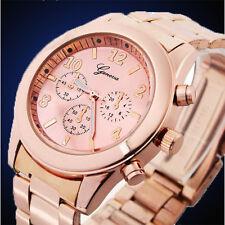 Rose Gold Man Women Girl Unisex Stainless Steel Quartz Wrist Watches New Fashion
