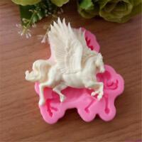 3D DIY Flying Horse Silicone Mold Fondant Cake Decor Chocolate Baking Mould MP
