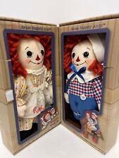 Raggedy Ann and Andy Vintage Asleep/Awake 0190/2400 Limited Edition Dolls Aurora