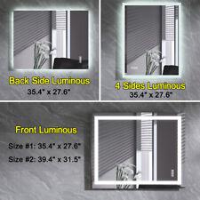 Anti-Fog Bathroom Mirror Led Illuminated Wall Mounted Makeup Vanity Mirror Touch