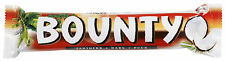 Bounty Plain Dark Chocolate Twin Bars 57g x 24 per box ** FULL BOX **