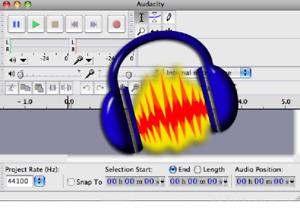 Audio Editing Studio Music Sound Record Software - Audacity Software