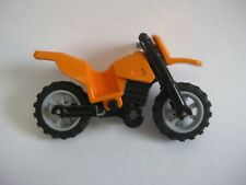 Lego MOTORCYCLE Dirt Bike for Minifigures to Ride - ORANGE
