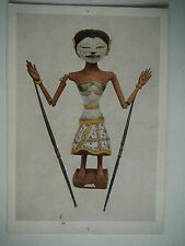 Java Wooden Figure used in the Wayang Golek Puppet Plays Old Postcard Size Print