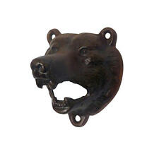 British Antique Replica Cast Iron Grizzly Bear Wall Mount Beer Bottle Opener