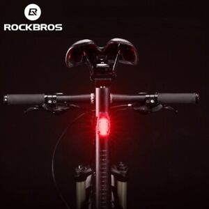 ROCKBROS MTB Road Bike Light Night Safe Warning LED Light Cycling Clip Taillight