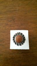 Vintage Jewellery - Sterling Silver & Red Sandstone Ring - Deceased Estate