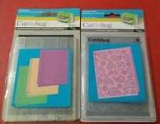 Cuttlebug Perfectly Paisley Just My Type Borders Bundle Embossing Folder Emboss