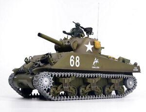 Heng Long 6.0 V Radio  Remote Control RC 2.4G Tank M4A3 SHERMAN 1/16 BB & IR UK