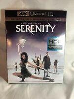 SERENITY 4K ULTRA HD BLU RAY 2 DISC SET +SLIPCOVER SLEEVE  FAST FREE SHIPPING