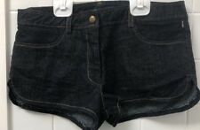 Dotti Size 8 Denim Casual Shorts EUC Dark Blue Stretch Summer Hipster