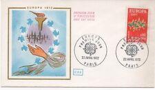 FRANCE 1972.F.D.C.EUROPA 1972.OBLITERATION:LE 22/4/72 PARIS