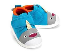 NWT - IKIKI Baby's 'SASCHA NARWHALSKI' Blue STRAP-ON SQUEAK SNEAKER SHOES - 11