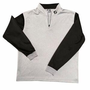 FOOTJOY Mens Zip Neck Top Track Jacket Jumper Sweatshirt Golf Clothing XXL 2XL