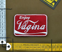 """Ricamata / Embroidered Patch """"Enjoy Vagina"""" with VELCRO® brand hook"""