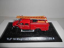 MAGIRUS-DEUTZ MERCUR 125 A TLF 16 FIRE POMPIERS BOMBEROS DEAGOSTINI ATLAS 1:72