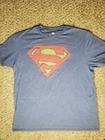 Superman Short Sleeve Shirt Size Large Blue