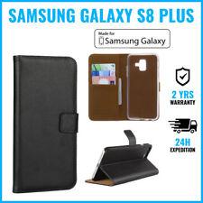 Wallet Flip Case Cover Cas Coque Etui Hoesje Black For Samsung Galaxy S8 Plus