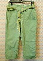 BandolinoBlu Denim Boheme Women's Light Green Stretch Capris Size 6 NWT