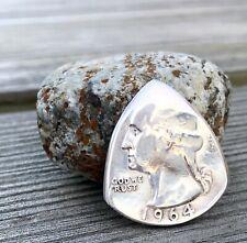 Coin Guitar Pick, The Original ®-US Washington Quarter 90% Silver (Random Yr)