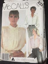 McCall's Vintage Pattern 2227 Uncut 1985 Size 10 Blouse