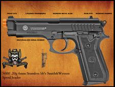 TAURUS PT 92 Spring Airsoft Gun Trademarks Metal Slide 5000 .20g bb speed loader