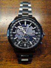 Seiko Astron GPS Solar Quarz Titan Herren Armbanduhr SAST003G
