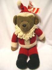 Hallmark Christmas Bear KRIS Teddy Bear Santa Suit stuffed plush toy display