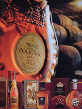 PUBLICITÉ 1996 PRINCE HUBERT DE POLIGNAC COGNAC XO ROYAL - ADVERTISING