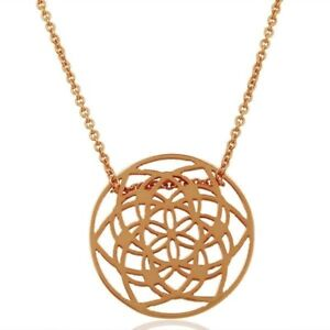 18K Rose Gold Plated 925 Sterling Silver Chain Pendant Designer Jewelry