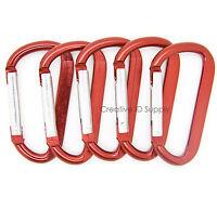 50Pcs//100Pcs Carabiner Spring Belt Clip Key Chain Aluminum Alloy Good Quality