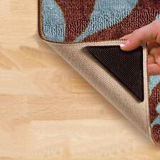 4 X RUG CARPET MAT GRIPPERS RUGGIES NON SLIP SKID REUSABLE WASHABLE GRIPS UK