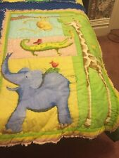 Twin Size Jungle Animal Quilt Made From 100% Cotton Flannel