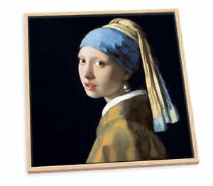 Johannes Vermeer Girl with a Pearl Earring CANVAS FLOATER FRAME Wall Art Print