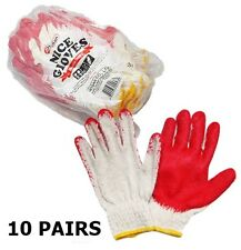 Red Coating Gloves 10 PAIRS WORK GLOVES