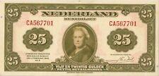 Netherlands 25 gulden 1943 VF + (muntbiljet)