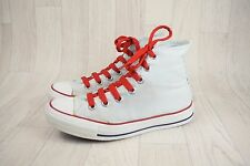 Ladies Converse All Star White Grey Canvas Hi Top Trainers Sneakers Size UK 4.5