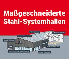 Lagerhalle Gewerbehalle Halle mit Satteldach 15 x 60 m Iso Paneele Stahlhalle
