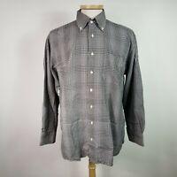 Peter Millar Large Mens Multi Color Plaid Cotton Button Front Shirt