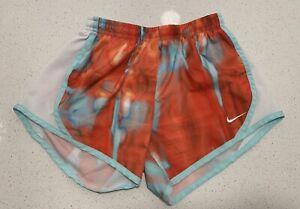 Nike DriFit Girls M Medium Athletic running shorts pocket inside waist colorful