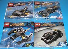 4x Lego Super Helden! Batmans Tumbler , Batmobile , Batwing + Batman auf Jetski
