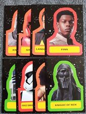 2019 JOURNEY TO STAR WARS:THE RISE OF SKYWALKER CHARACTER STICKER 8 CARD LOT